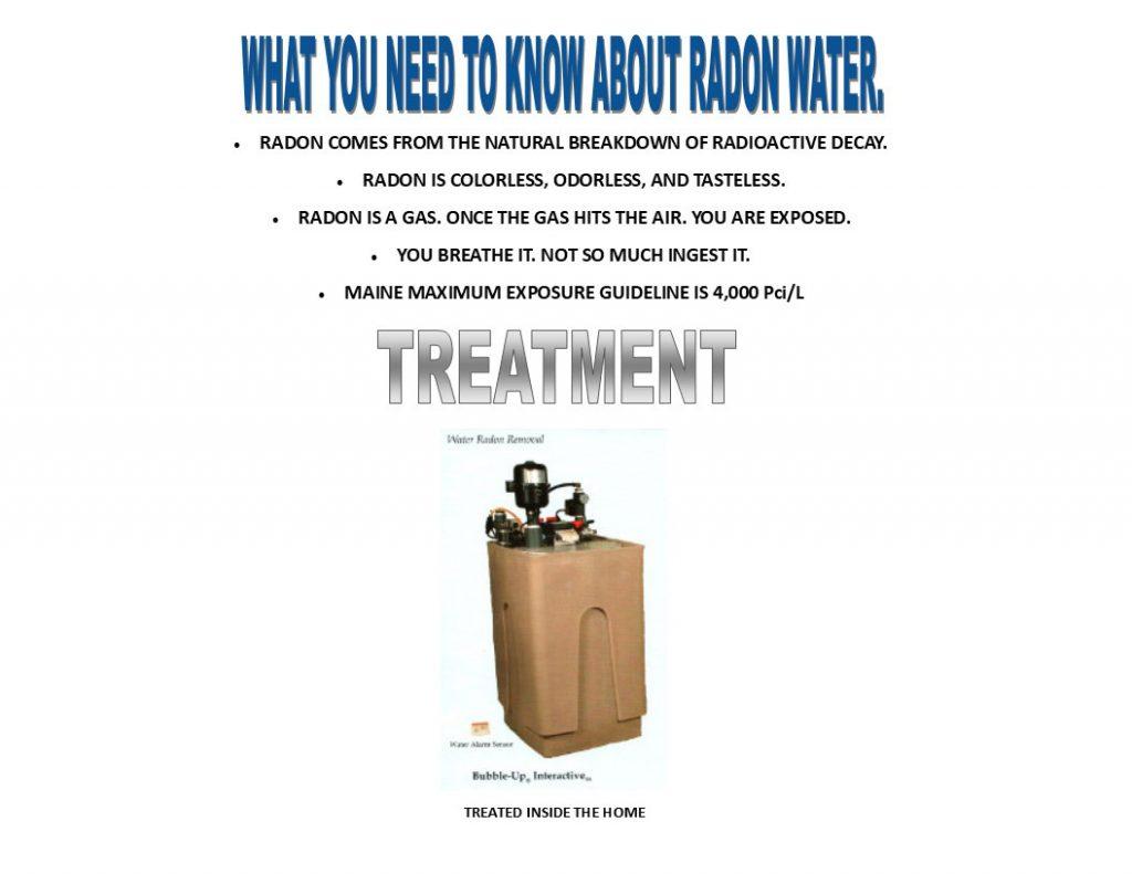 radon water treatment